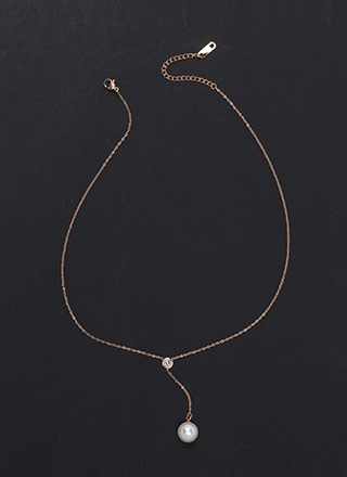 Lovely Look Faux Pearl Y-Necklace