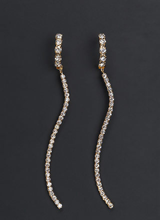 Glam Gala Rhinestone Drop Earrings
