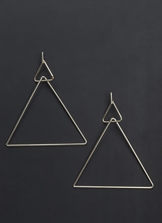Eternal Triangles Statement Earrings