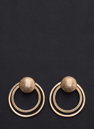 City Chic Double Ring Earrings
