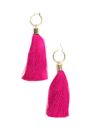 Boho Wonder Long Tassel Earrings