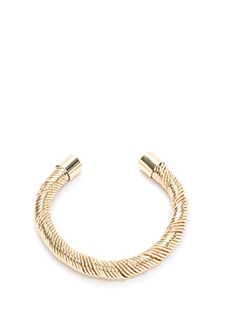 Dazzling Choice Textured Cuff Bracelet