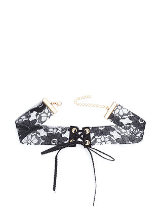 In Your Lace Sheer Tied Choker