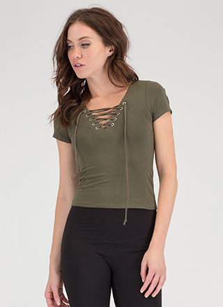 The String Section Lace-Up Top