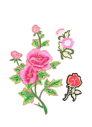 Nature Path Embroidered Patch Set