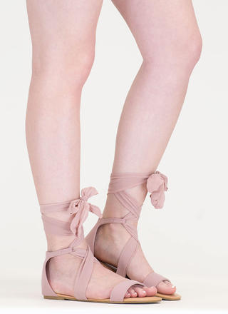 Light As Air Chiffon Lace-Up Sandals
