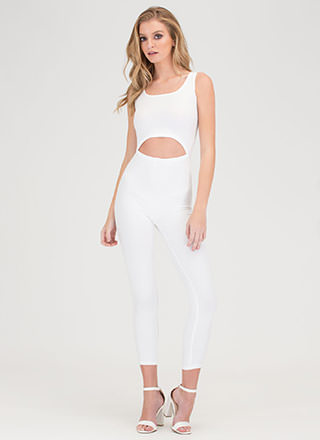 Caught In The Middle Cut-Out Jumpsuit