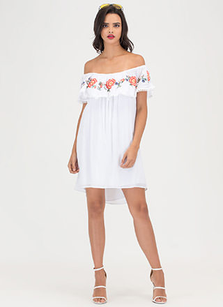 Less Is Fleur Off-Shoulder Minidress