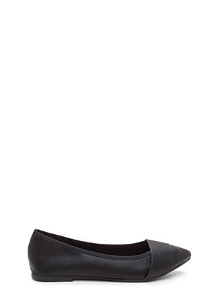 Good Choice Pointy Faux Leather Flats