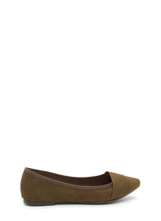 Good Choice Pointy Faux Suede Flats