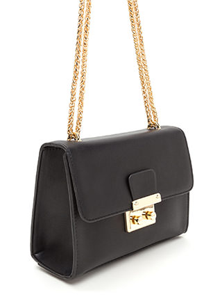 Lady Lock Boxy Chain Strap Bag