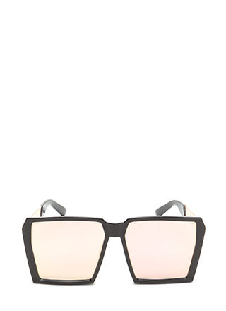 Squared Away Oversized Sunglasses