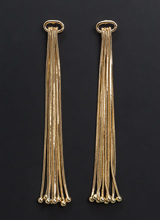 Fresh Chain-ge Fringed Earrings