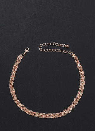 Weave In The Dust Glitzy Chain Necklace