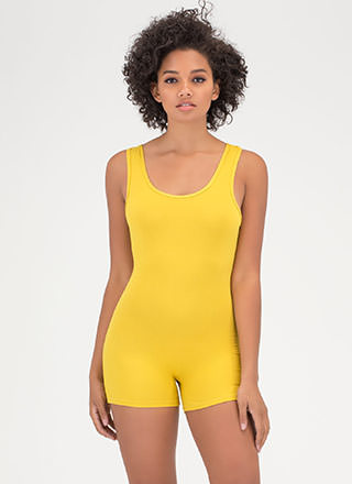 Basic Training Scoop Leotard Romper