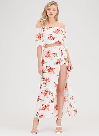 In The Tropics Floral Two-Piece Dress