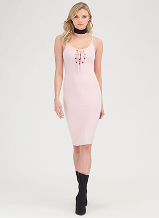 Tie You Up Bodycon Cami Dress