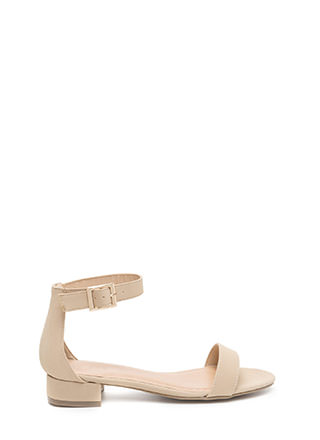 Low Key Chic Faux Nubuck Sandals