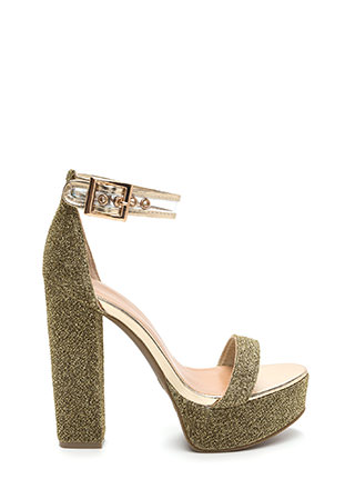 Leading Light Chunky Metallic Heels