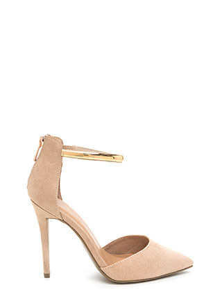 Downtown Date Pointy Faux Suede Heels