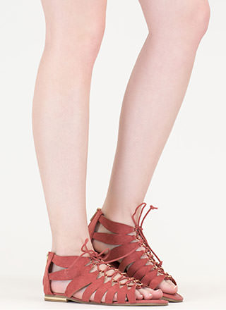 Go Anywhere Lace-Up Gladiator Sandals