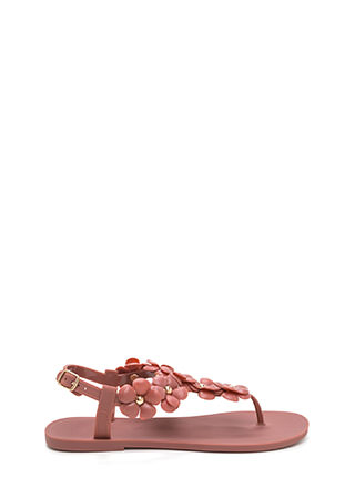 Petal Pusher Jelly T-Strap Sandals
