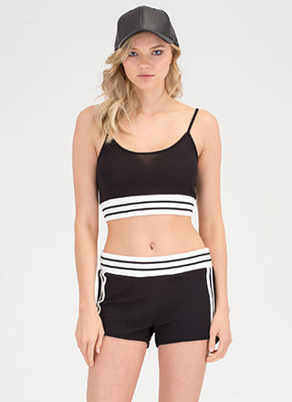 Off-Duty Squad Striped Top 'N Shorts Set