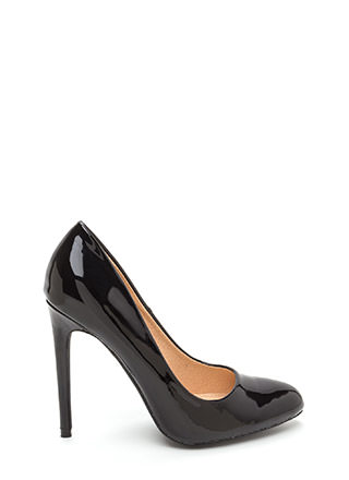 Work For It Faux Patent Pumps