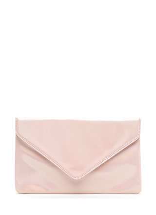 Light It Up Shiny Envelope Clutch