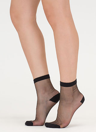 Can You Be Sheer Mesh Ankle Socks