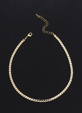 Stack Up Herringbone Chain Choker