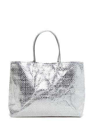 Big Deal Oversized Woven Tote Bag