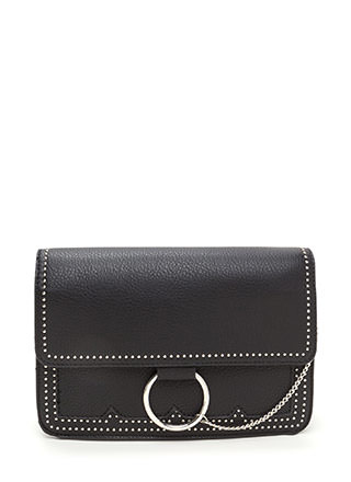 Chic Future Studded Ring 'N Chain Bag