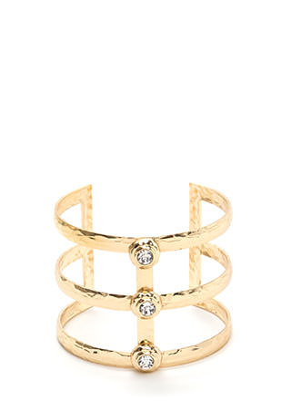 From The Glamazon Jeweled Caged Cuff