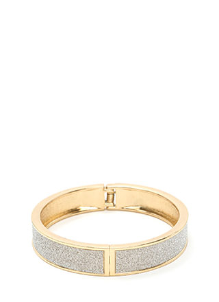 Go With Glitter Hinged Bracelet