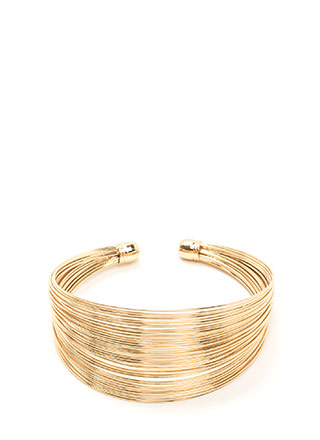 Live Wire Stacked Cuff Bracelet