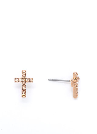 Cross Your Mind Jeweled Earrings