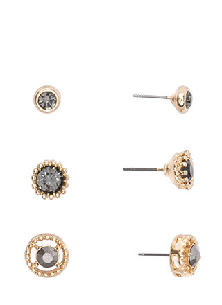 Precious Jewels Textured Earring Set