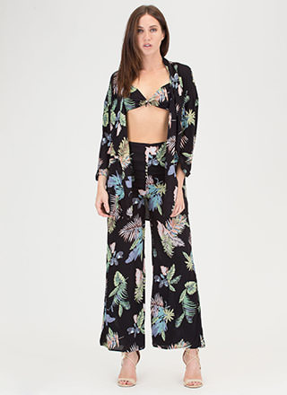 Hot Tropics Three-Piece Palazzo Set