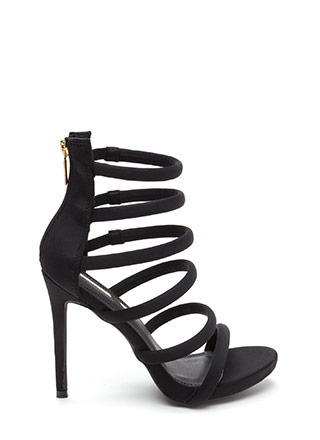 Six And Match Caged Stiletto Heels
