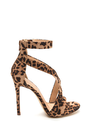 Exclusive Crowd Caged Leopard Heels