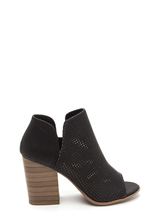 Slit Decision Chunky Perforated Booties