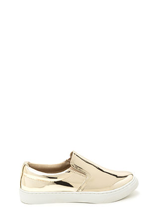 Tip To Toe Metallic Slip-On Sneakers