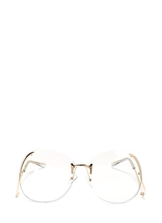 Artistic Freedom Clear Oversized Glasses