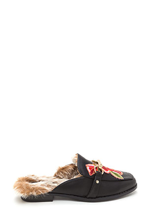 Grow Getter Faux Leather Mule Flats