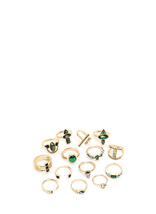 Raise Your Hand Jeweled Ring Set
