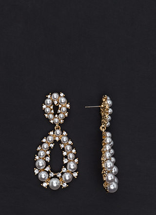 Precious Pearls Jeweled Droplet Earrings