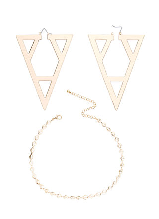 Try Angles Cut-Out Necklace Set