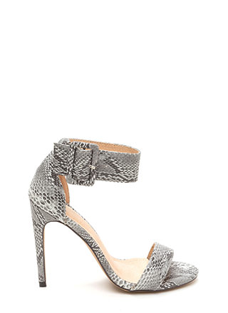 Snake A Guess Strappy Stiletto Heels