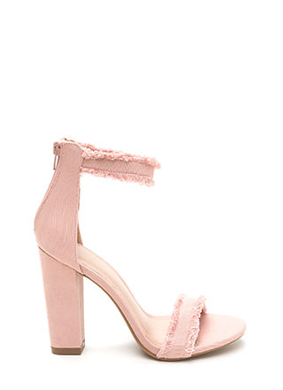 Fray A Game Chunky Strappy Heels